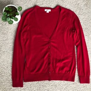 Forever 21 Red Cardigan